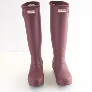 Hunter Original Stripe DamsonBright  Rain Boots